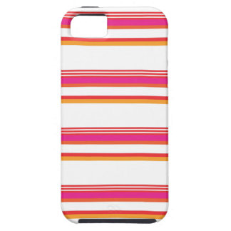 Magenta Orange Horizontal Stripe iPhone 5 Cover
