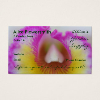 Magenta Orchids business cards