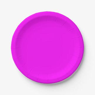 Magenta Paper Plate