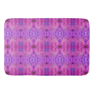 Magenta Pink and Purple Abstract Bath Mats