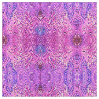 Magenta Pink and Purple Abstract Fabric
