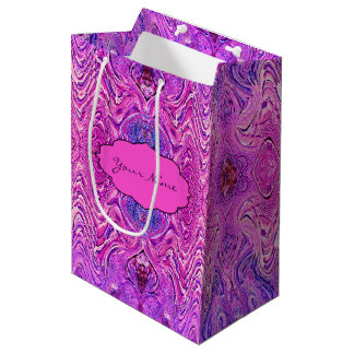 Magenta Pink and Purple Abstract Medium Gift Bag
