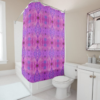 Magenta Pink and Purple Abstract Shower Curtain
