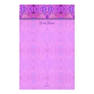 Magenta Pink and Purple Abstract Stationery