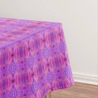 Magenta Pink and Purple Abstract Tablecloth
