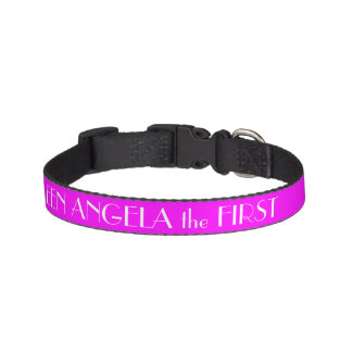 Magenta Pink Dog Collar Personalized