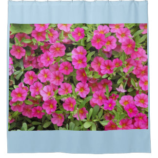 Magenta/Pink Garden Flowers Shower Curtain