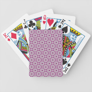 Magenta-Pink-Gray Nested Octagon Playing Cards