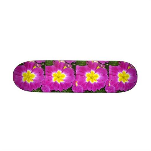 """Magenta Pink Primroses"" Skate Boards"