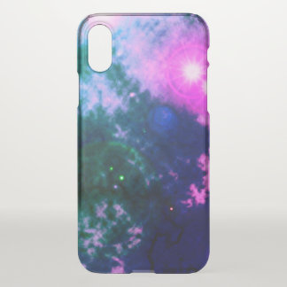 Magenta Pink Space Diffuse Nebula and Supernova iPhone X Case