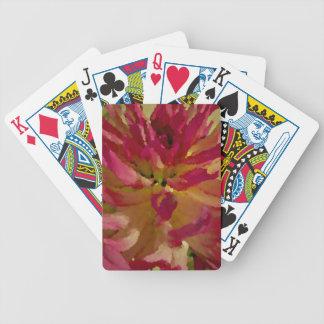magenta, pinks, and white dahlia poker deck