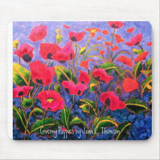 Magenta Poppies Mousepad