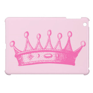 Magenta Princess Crown on Pink Background Case For The iPad Mini
