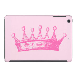 Magenta Princess Crown on Pink Background iPad Mini Case