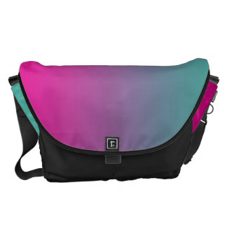 Magenta Purple And Teal Commuter Bag