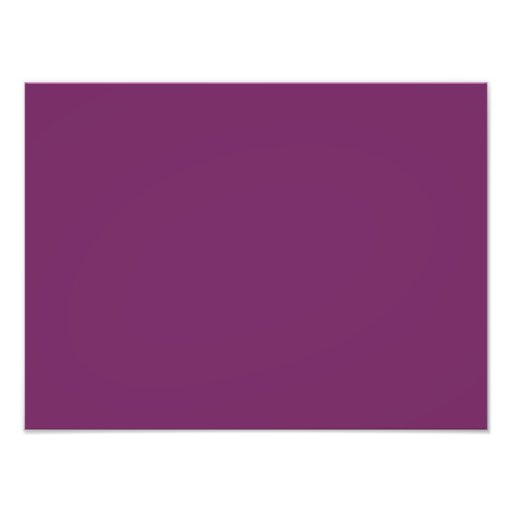 Magenta Purple Color Trend Blank Template Photographic Print