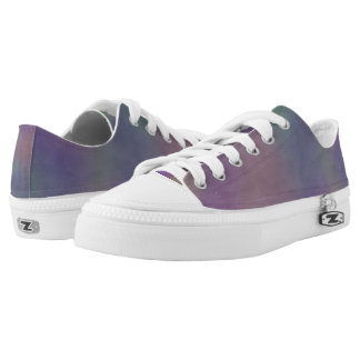 Magenta Purple Green Yellow Abstract Low Tops