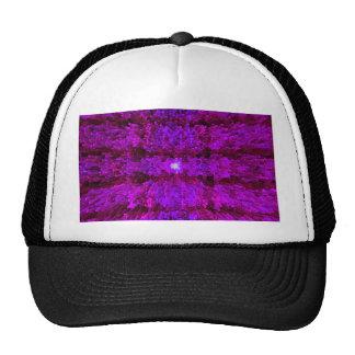 Magenta Purple Modern Textured Pattern Design Mesh Hat