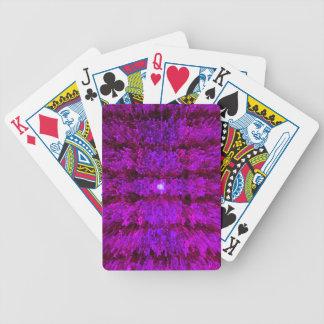 Magenta Purple Modern Textured Pattern Design Poker Deck