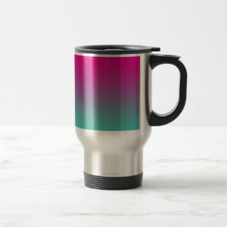 Magenta Purple & Teal Ombre Travel Mug