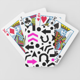Magenta right direction bicycle playing cards