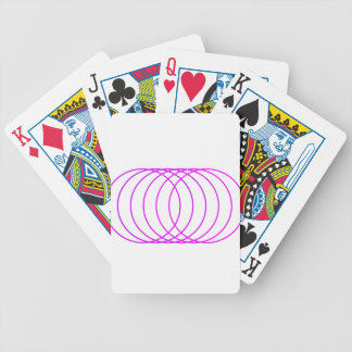 Magenta Rings Bicycle Playing Cards