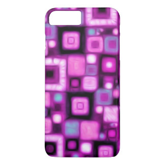 Magenta Squares iPhone 7 Plus Case