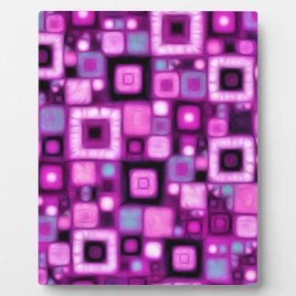 Magenta Squares Plaques