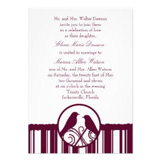 Magenta Stripe Wedding Invitation