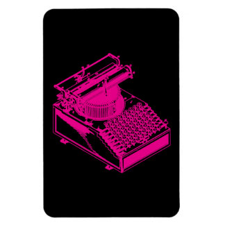 Magenta Type Writing Machine Magnet