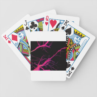 Magenta Veins Bicycle Playing Cards