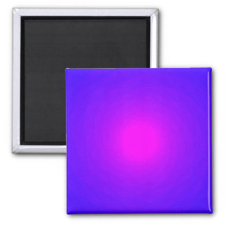 Magenta Violet Radiating Spinning Vortex Back Square Magnet