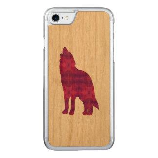 Magenta Wolf IPhone Wooden Case