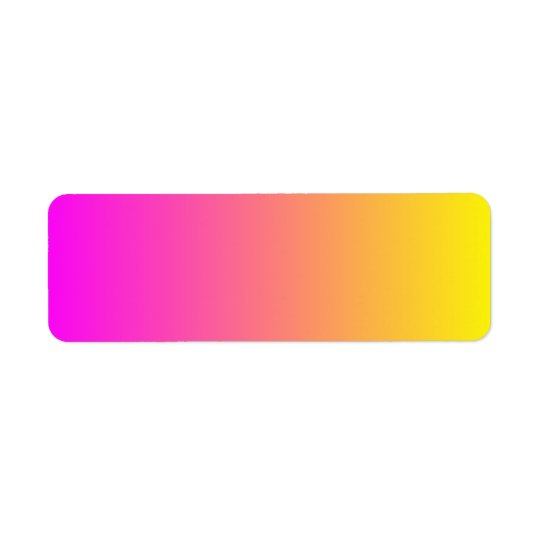 Magenta Yellow Gradient Return Address Label