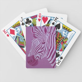Magenta Zebra Poker Playing Cards