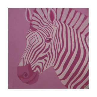 Magenta Zebra Wood Wall Panel