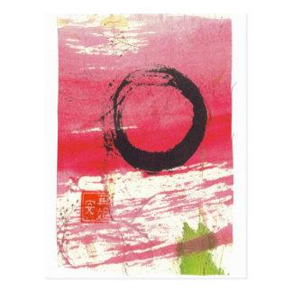Magenta Zen Circle Postcard
