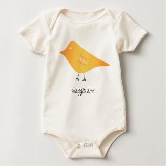 Maggie Ann - Yellow Bird Baby Bodysuit