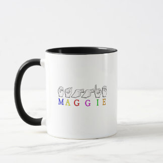 MAGGIE  ASL FINGER SPELLED MUG