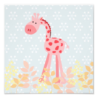 Maggie's Menagerie Nursery Prints: Cherry Giraffe Photo Print