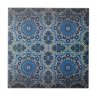 Maghrebi mosaic ceramic tile