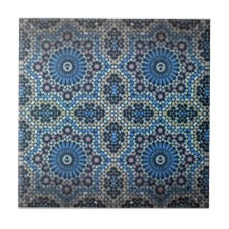 Maghrebi mosaic small square tile