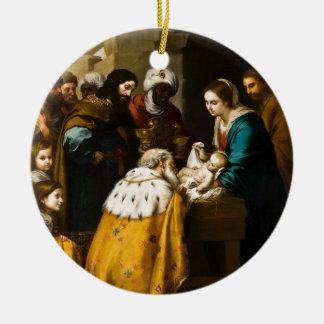 Magi Present Jesus Gifts Ceramic Ornament
