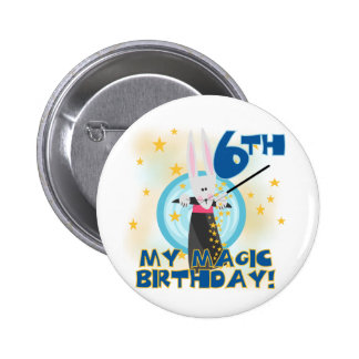 Magic 6th Birthday Tshirts and Gifts Buttons