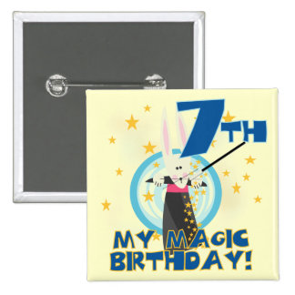 Magic 7th Birthday Tshirts and Gifts Buttons