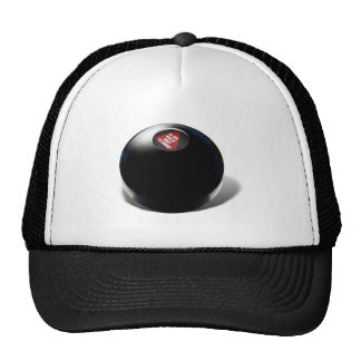 """Magic 8 Ball says, """"Do you really want to know?"""" Mesh Hats"""