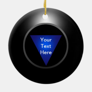 Magic 8 Ball - Your Text Ceramic Ornament
