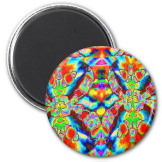 Magic alien patterns 6 cm round magnet