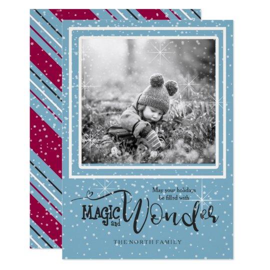 Magic and Wonder Christmas Photo Blue ID440 Card