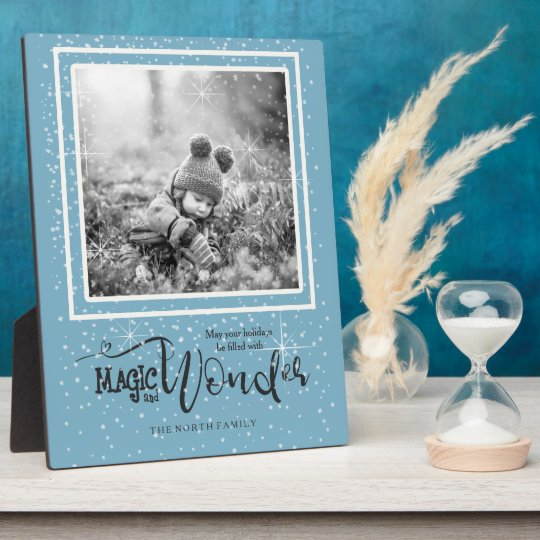 Magic and Wonder Christmas Photo Blue ID440 Plaque